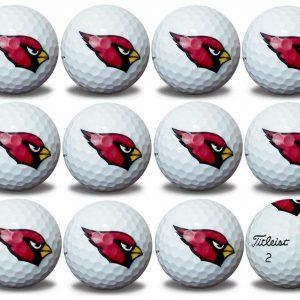 Cardinals Refinished Titleist ProV1 Golf Balls
