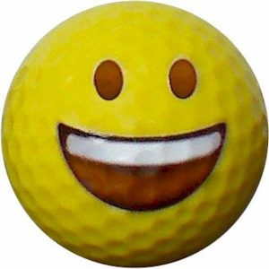 Emoji #3 Big Smile Golf Balls 12pk