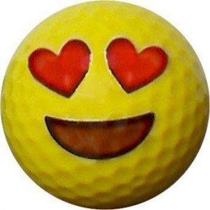 Emoji #5 Heart Eyes Golf Balls 12pk