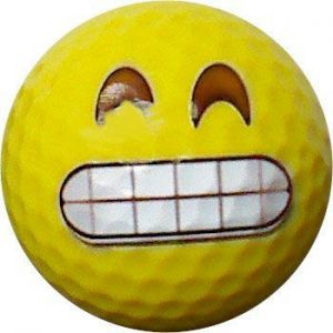 Emoji #8 Teeth Grinning  Golf Balls 12pk
