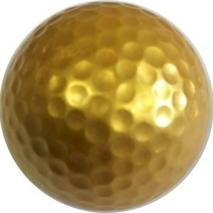 1 dozen Gold Golf Balls