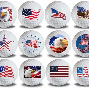 USA American Flag Golf Balls 12pk