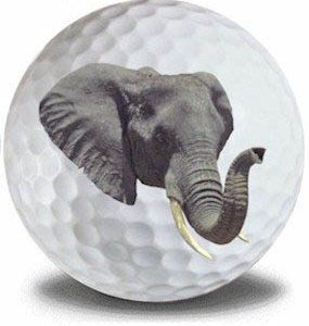 Wild Animal Elephant Golf Balls 12pk
