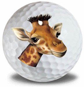 Wild Animal Giraffe Golf Balls 12pk