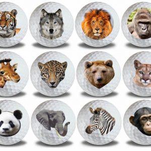 Wild Animal Golf Balls 12pk