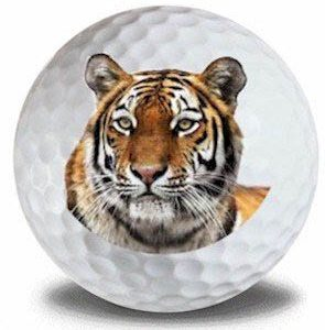 Wild Animal Tiger Golf Balls 12pk