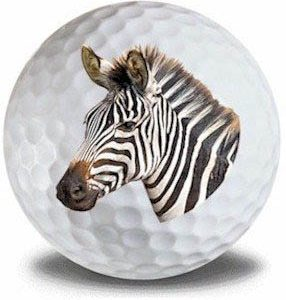 Wild Animal Zebra Golf Balls 12pk