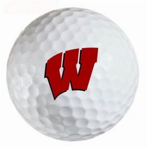 Wisconsin Badgers Refinished Titleist ProV1 Golf Balls