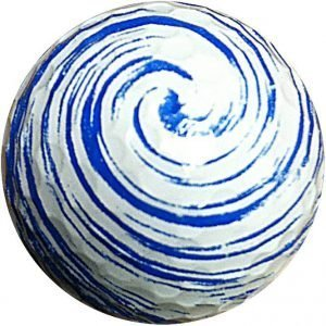 1 Dz. Blue Swirl Golf Balls