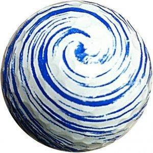 1 Dz. Blue Swirl Golf Balls