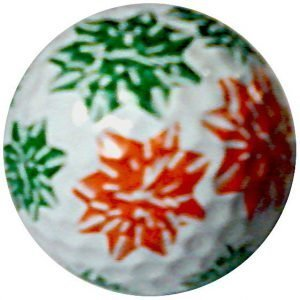 1 Dz. Christmas Bows Golf Balls