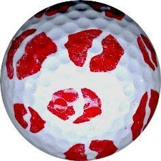 1 Dz.Red Lips Print Golf Balls