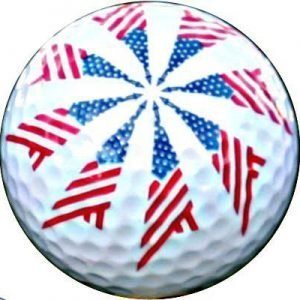 1 Dz. Pinwheel Flag Golf Balls