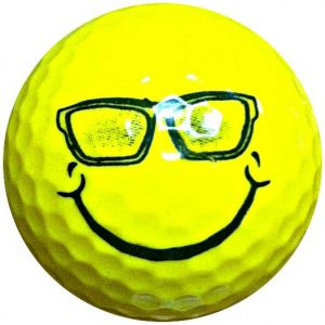 1 Dz. Smile Glasses Golf Balls