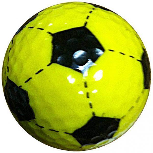 1 Dz. Yellow Soccer Ball Golf Balls