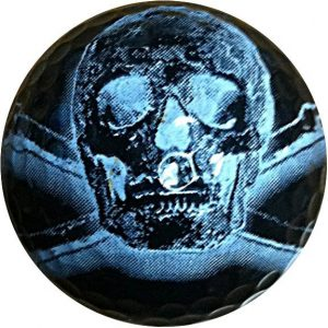 1Dz. Black Skull Golf Balls