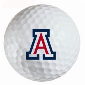 Arizona wildcats  Refinished Titleist ProV1 Golf Balls