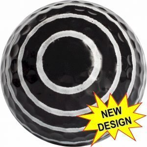 Black Spiral Golf Balls Novelty One Dozen