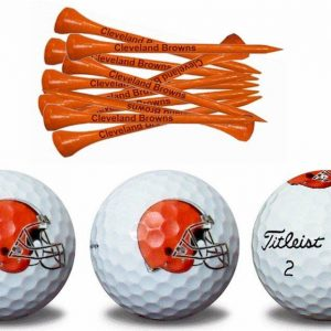 Browns ProV1 3 Golf Balls w/Tees