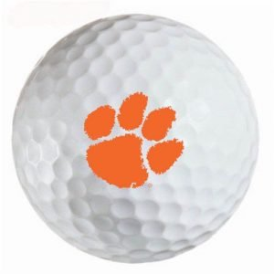 Clemson Tigers Refinished Titleist ProV1 Golf Balls