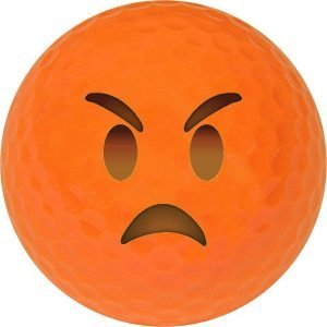 Emoji #14 Angry Orange Golf Balls Novelty One Dozen