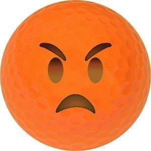 Emoji #14 Angry Orange Golf Balls Novelty One Dozen