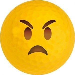 Emoji #15 Angry Golf Balls Novelty One Dozen