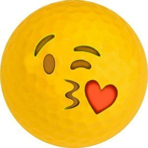 Emoji #16 Kiss Golf Balls Novelty One Dozen