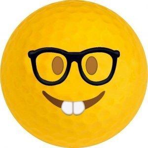 Emoji #17 Nerd Golf Balls Novelty One Dozen