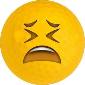 Emoji #19 Tired Golf Balls Novelty One Dozen