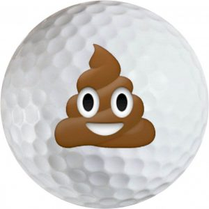 Emoji #20 Poop Golf Balls Novelty One Dozen
