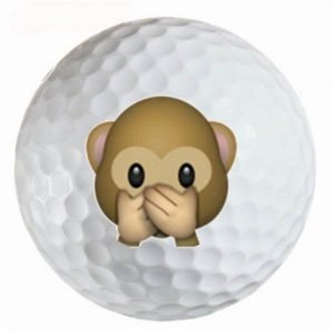 Emoji #22 Monkey Speak No Evil Golf Balls Novelty One Dozen