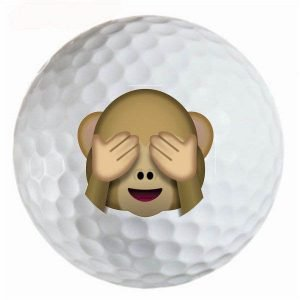 Emoji #23 Monkey See No Evil Golf Balls Novelty One Dozen