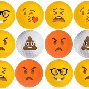 Emoji Golf Balls Set# 2 12pk