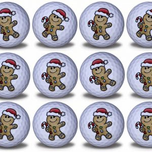 Gingerbread Imprint Novelty golf balls 12 pack