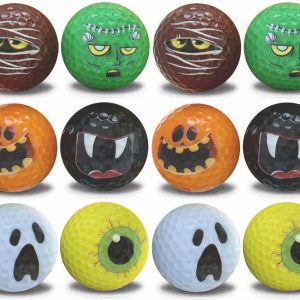 Halloween Golf Balls – 12 pack - Assorted Frightening Designs