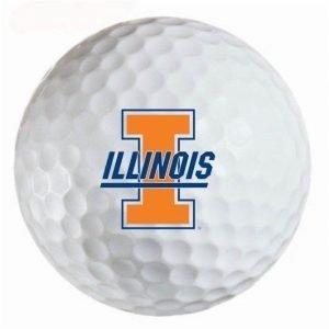 Illinois Illini Refinished Titleist ProV1 Golf Balls