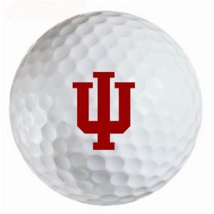 Indiana Hoosiers Refinished Titleist ProV1 Golf Balls