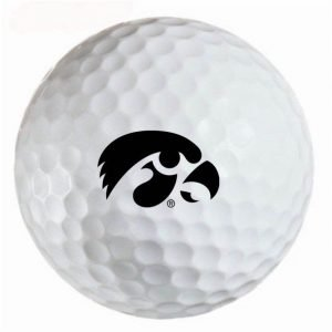 Iowa Hawkeyes Refinished Titleist ProV1 Golf Balls
