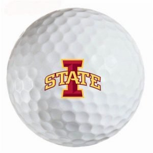 Iowa State  Cyclones Refinished Titleist ProV1 Golf Balls
