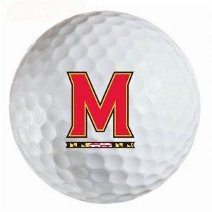 Maryland Turtles Refinished Titleist ProV1 Golf Balls