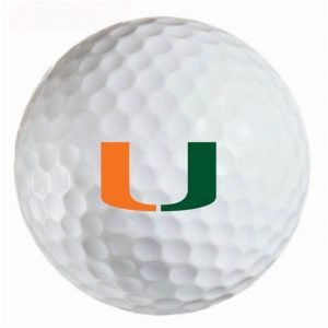Miami Hurricanes Refinished Titleist ProV1 Golf Balls