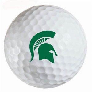 Michigan State Spartans Refinished Titleist ProV1 Golf Balls