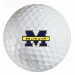 Michigan Wolverines Refinished Titleist ProV1 Golf Balls