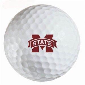 Mississippi State Bulldogs Refinished Titleist ProV1 Golf Balls