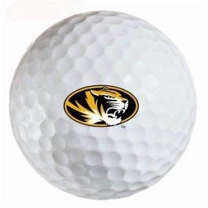 Missouri Tigers Refinished Titleist ProV1 Golf Balls