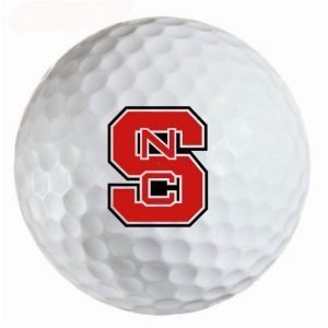 North Carolina State Wolf Pack Refinished Titleist ProV1 Golf Balls