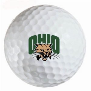O U Bobcats  Refinished Titleist ProV1 Golf Balls