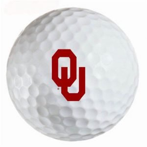 Oklahoma Sooners Refinished Titleist ProV1 Golf Balls