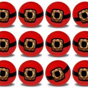 Santa Belt Imprint Novelty golf balls 12 pack